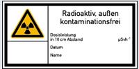 Strahlenschutzkennzeichnung nach DIN 25430