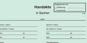 Handakten und Kostenblätter