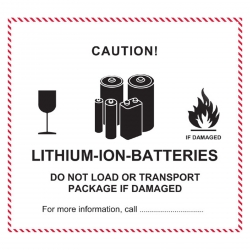 Lithium Ion Batteries Transportaufkleber 12 X 11 Cm