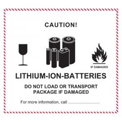 lithium ion batteries transportaufkleber 12 x 11 cm aufkleber shop. Black Bedroom Furniture Sets. Home Design Ideas