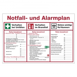 notfall und alarmplan aufkleber shop. Black Bedroom Furniture Sets. Home Design Ideas