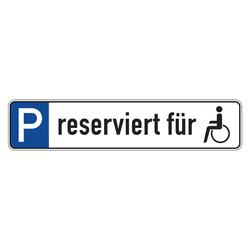 Parkverbot Parkplatzschild Größe 520x110 mm mit Logo Parkplatzkennzeichnung
