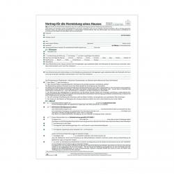 Vertrag Zur Vermietung Eines Hauses 5 Seiten Format Din A4