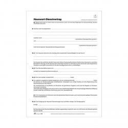 Anstellungsvertrag Hauswart-Dienstvertrag 4 Blatt DIn A4 ...