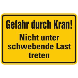 """Kranschild """"Gefahr durch Kran! Nicht unter schwebende Last treten"""""""