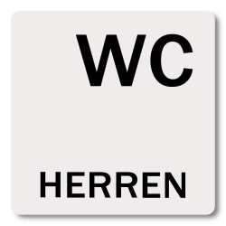 schild wc herren aluminium selbstklebend 60 x 60 mm aufkleber shop. Black Bedroom Furniture Sets. Home Design Ideas