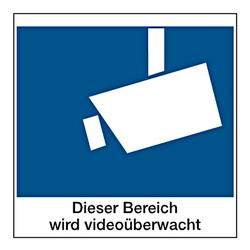 Hinweisschild Dieser Bereich Wird Videoüberwacht Aufkleber