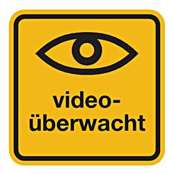 Hinweisschild Videoüberwacht Aufkleber Shop