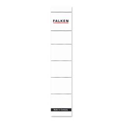 selbstklebend schmal und kurz Papierrückenschilder weiß 10er Pack