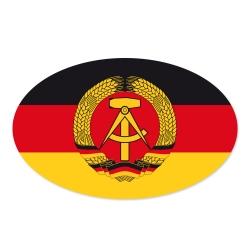 Autoaufkleber Ddr Schwarz Rot Gold Mit Ddr Emblem Hammer