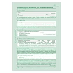 Arbeitsvertrag Für Geringfügig Und Teilzeit Beschäftigte Aufkleber