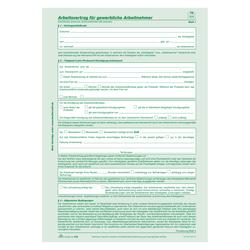 Arbeitsvertrag Für Gewerbliche Arbeitnehmer Selbstdurchschreibend