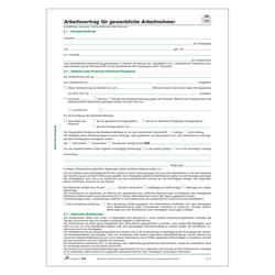 Arbeitsvertrag Für Gewerbliche Arbeitnehmer Din A4 Aufkleber Shop