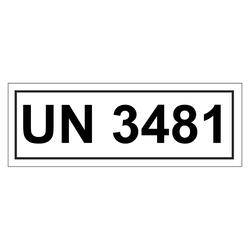 Un Verpackungskennzeichen Mit Un 3481 Aufkleber Shop