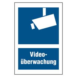 Kombischild Videouberwachung Blau Weiss Aufkleber Shop