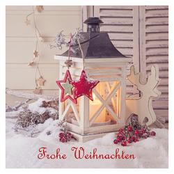 5er pack geschenkkarten frohe weihnachten laterne. Black Bedroom Furniture Sets. Home Design Ideas