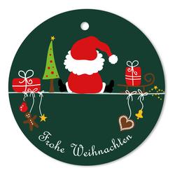 Geschenkanhänger Frohe Weihnachten.25er Pack Geschenkanhänger Frohe Weihnachten Weihnachtsmann Ca ø