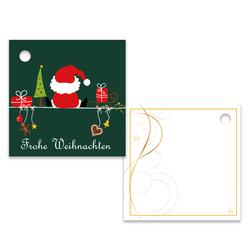 Geschenkanhänger Frohe Weihnachten.25er Pack Geschenkanhänger Frohe Weihnachten Weihnachtsmann Ca