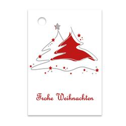 Geschenkanhänger Frohe Weihnachten.25er Pack Geschenkanhänger Frohe Weihnachten Ca 52 X 74 Mm
