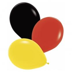 Luftballon Deutschland Schwarz Rot Gold 12 Stück ø 30 Cm