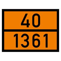 Orange warntafel