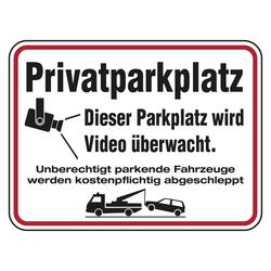 Hinweisschild Privatparkplatz Dieser Parkplatz Wird Video Uberwacht