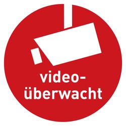 Hinweisschild Video überwacht Rot ø 50 Mm Aufkleber Shop
