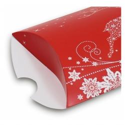Geschenkbox Weihnachten.Kissenverpackung Geschenkbox Weihnachten Rot Aufkleber Shop