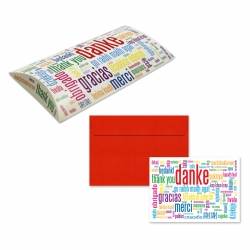 """5er Pack Klappkarten mit Umschlag Geschenkkarte /""""Danke/"""" Glückwünschkarte"""
