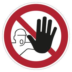 Zutritt Für Unbefugte Verboten Folie Lnl ø 200 Mm
