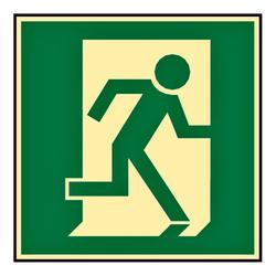 Rettungsweg rechts  Folie selbstklebend Fluchtweg Notausgang