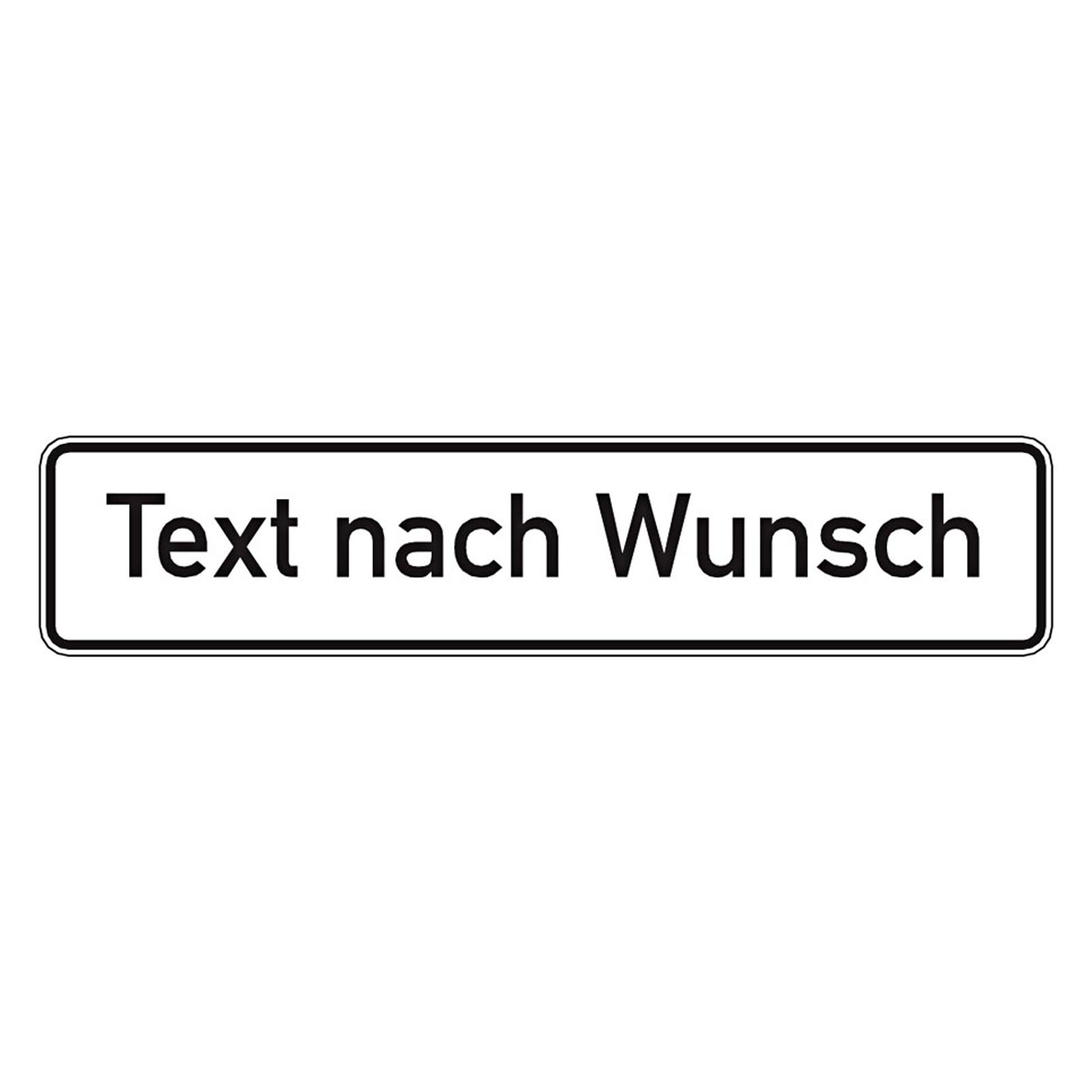 parkplatzschild mit text oder blanko alu 520 x 110 mm ab