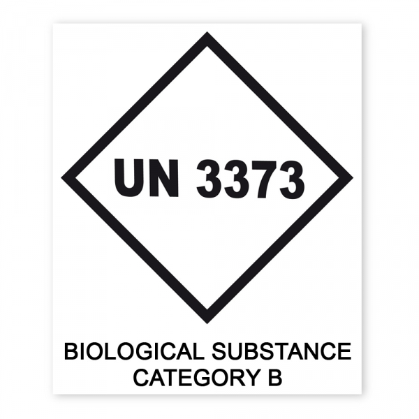 P169855_UN 3373 Biological Substance Category B Aufkleber 150 X 180 Mm on Popup Printable