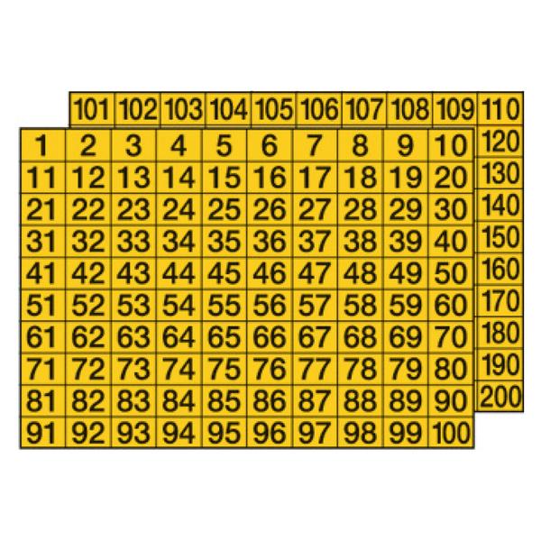 Zahlen Aufkleber 4cm Hoch 101 KLEBEZAHLEN Selbstklebende Ziffern und Nummern 0-9 in Neon Gelb Ideal f/ür den Au/ßenbereich da Wasser und Wetterfest
