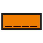 Warntafel orange mit Eindruck UN-Nummer
