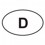 "Autoaufkleber ""oval"" mit D"