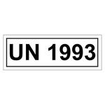 UN-Verpackungskennzeichen 14 x 5,5 cm mit UN 1993