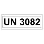 UN-Verpackungskennzeichen 14 x 5,5 cm mit UN 3082