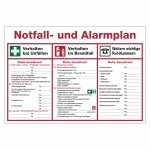 Notfall- und Alarmplan aus Kunststoff
