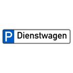 """Parkplatzreservierungsschild """"Dienstwagen"""" Aluminium 520 x 110 mm"""