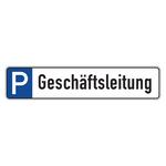 "Parkplatzreservierungsschild ""Geschäftsleitung"" Aluminium 520 x 110 mm"