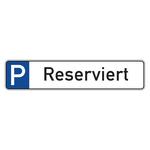"Parkplatzreservierungsschild ""Reserviert"" Aluminium 520 x 110 mm"