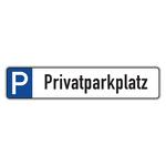 """Parkplatzreservierungsschild """"Privatparkplatz"""" Aluminium 520 x 110 mm"""