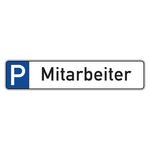 """Parkplatzreservierungsschild """"Mitarbeiter"""" Aluminium 520 x 110 mm"""