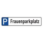 """Parkplatzreservierungsschild """"Frauenparkplatz"""" Aluminium 520 x 110 mm"""