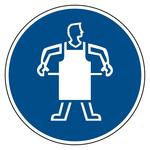 Schutzschürze tragen - Gebotszeichen Aluminium Ø 200 mm