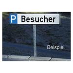 Pfosten für Parkplatzreservierungsschilder 51 cm inkl. Bodenplatte