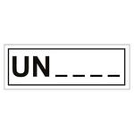 UN-Verpackungskennzeichen mit Eindruck UN-Nummer