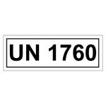 UN-Verpackungskennzeichen 14 x 5,5 cm mit UN 1760