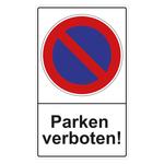 """Parkverbotsschild """"Parken verboten!"""" Aluminium 300 x 500 mm"""